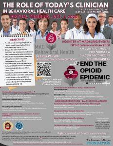 MAO Behavioral Health Training 10.01.20 Flyer Image
