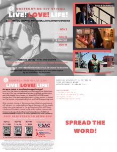 Confronting HIV Stigma 2020 Postcard Flyer